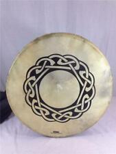 "Irish Bodhran 18"" Drum By Deura Blue & Gold Trim With Carrying Bag"