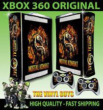 XBOX 360 MORTAL KOMBAT logo SCORPIONE SUB Adesivo Skin NUOVO ZERO e 2 SKIN Pad
