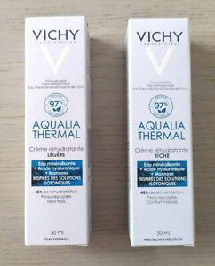VICHY AQUALIA THERMAL REHYDRATING RICH CREAM / LIGHT CREAM 30ML