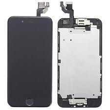 Black LCD Touch Digitizer Screen + Home Button Assembly Parts for iPhone 6 4.7""
