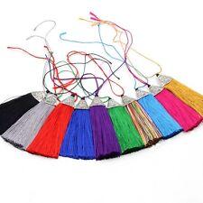 10Pcs Multi-Color Silk Cord Alloy Metal Bead Tassel For Hanging
