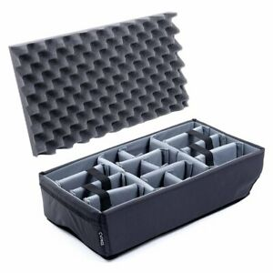 Padded Dividers (grey) for Pelican 1535 Air Case. Comes with lid foam.