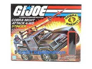 GI Joe A Real American Hero 1984 Cobra Night Attack Stinger Complete Driver Box