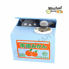 Itazura Automated Gray Kitty Cat Stealing Coin Piggy Bank Money Saving Box