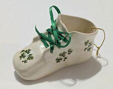 Cute Irish Baby Shoe Porcelain Christmas Ornament Clovers St. Patrick's