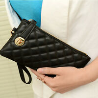 Fashion Womens Soft PU Leather Clutch Wallet Ladies Long Card Purse Handbag Bag