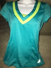 BCG V NECK TEAL Workout Athletic shirt Women's Small S DRY SMALL STRETCH