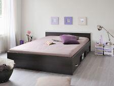 Jugendbett, Bett,140x200cm mit 2 Bettkästen, kaffeefarben, Doppelbett Leader 5.1