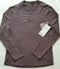 LULULEMON   Men's M Medium Purple Taupe 5 Year Basic Henley Long Sleeve T Shirt