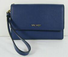 Nine West Blue Vivid Ink Tech Wristlet Wallet Cellphone Pocket With Tags