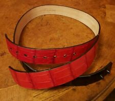 $525 Alexander McQueen Mens Black Leather Belt w//Silver Buckle 338875 CQE0I 1000