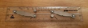 """12"""" Clear Folding Parallel Rule Made In England"""