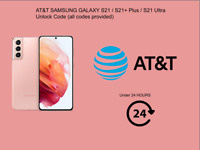 AT&T SAMSUNG GALAXY S21 / S21+ Plus / S21 Ultra Unlock  (all codes provided)