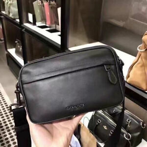 Authentic NWT COACH Men's Camera Bag Black Graham Crossbody