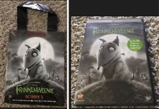 "DVD 2013 Disney's ""Frankenweenie"" PG Sealed With Movie Popcorn Bag Set"