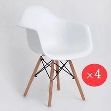 4 Weiß Esszimmerstuhl Sessel mit Retro PP gepolstert Esszimmer Bürostühle Küchen