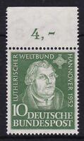 Bund 149 OR ** sauber postfrisch Oberrand BRD Martin Luther 1952 MNH