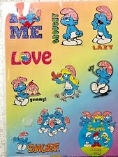 Smurf stickers licensed by PEYO 2009 10 x stickers per sheet collectable Puffi