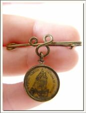 ANTIQUE 1920's OUR LADY OF REMEDY CHELVA - SPANISH MEDAL & BROOCH ! SEE MORE !