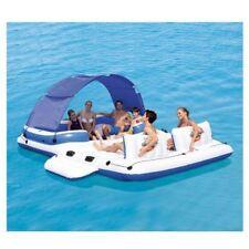 Giant Inflatable Floating Island Raft For Lake Pool Big Platform Lounge Boat NEW