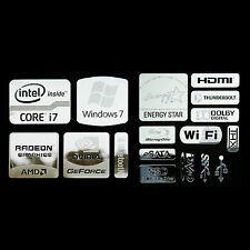 Intel Core i7 Logo Metal Decal Sticker NVIDIA Radeon Energy star (combo Type A)