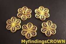 70PCS Antiqued gold filigree flower links 16mm FC65G