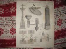 ANTIQUE 1821 KLINOMETER LAMP LEWIS SCIENCE DEVICE MARITIME INSTRUMENT PRINT NR