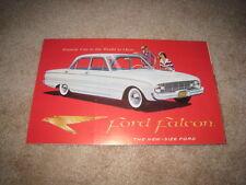 1960 60 Ford Falcon sales brochure dealer 6 page folder literature