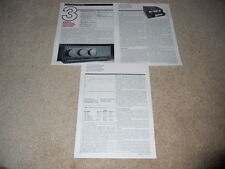 Mission Cyrus One Integrated Amplifier Review, 3 pg, 1991, Specs, Info