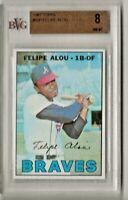 1967 Topps Baseball # 530 Felipe Alou BVG 8 PSA Hi Number !!
