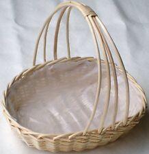 Boda/Floral Pantalla Mimbre cesta. Tamaño 3