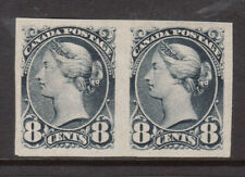 Canada #44i Extra Fine Mint Imperforate Pair Unused (No Gum) As Issued