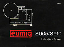 EUMIG S 905 S 910 User Instruction Manual Genuine Original USED booklet English
