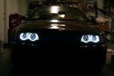 FARI ANGEL EYES CCFL NEON+FRECCE BMW SERIE 3 E46 COUPE'/CABRIO CROMO/NERI 99-03