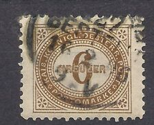 Austria - 1894 - 6 kr postage due- (Mi 5E, Sc J5) - perf 11 1/2 - used
