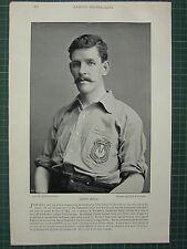 1897 PRINT FAMOUS FOOTBALLERS ~ JOHN BELL EVERTON CLUB DUMBARTON UNION