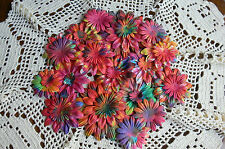 BATIK BRIGHTS Mixed Size 22-95mm GERBERA DAISY PETALS Paper - 26 Pack GreenTara