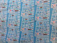 Vintage 1950s Hilda Durkin 'Kon-tiki'  Curtain Fabric Liberty