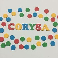Dots Circles With Name Sesame Street Theme   Edible  Cake, Birthday Topper  Set