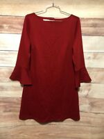 Jaclyn Smith Women's Red Dress Size Medium 3/4 Bell Sleeve Holiday NWT LBB76