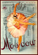 Travel Visit the USSR  Moscow ballerina  Poster Print