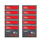 10 x 4GB SanDisk Ultra 30MB/S CF CompactFlash memory Card SDCFH-004G For DSLR