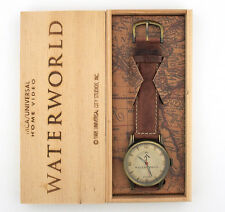 Waterworld Movie Watch in Original Wooden Box Kevin Costner Movie Promotion b1