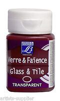 Lefranc & Bourgeois 50ml. GLASS & TILE Paint All Colours - Porcelaine Ceramics