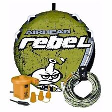 """Airhead Rebel Tube Kit Towable Single Rider 54"""" Rope Pump Inflatable AHRE-12 MD"""