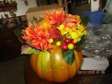 Avon Halloween Harvest Floral Pumpkin Centerpiece New i NIB
