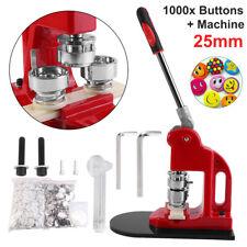 1000x 25mm Buttons Badge Maker Machine Circle Cutter 3 Dies Hex Keys Kit AU