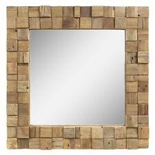 Spiegel Holzrahmen Mosaik Quadratisch Wandspiegel Holz ca 50 x 50 cm Nr. 19