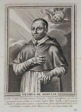 Burin du XVIIème siècle. Portrait de Petrus de Berulle,