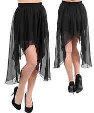 Royal Love Black Hi Low Mini Layered Skirt Sz. Large